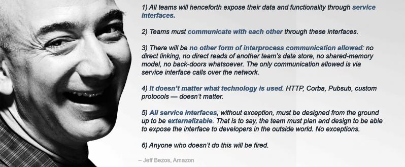 Memo von Jeff Bezos aus 2002